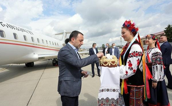 Ираклий Гарибашвили прибыл в Украину с официальным визитом
