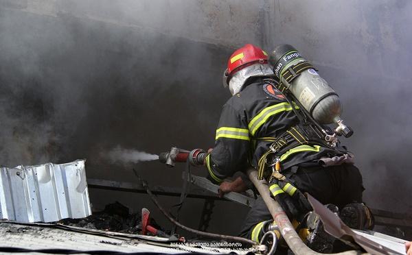 В Батуми на т.н. рынке Хопа произошел пожар