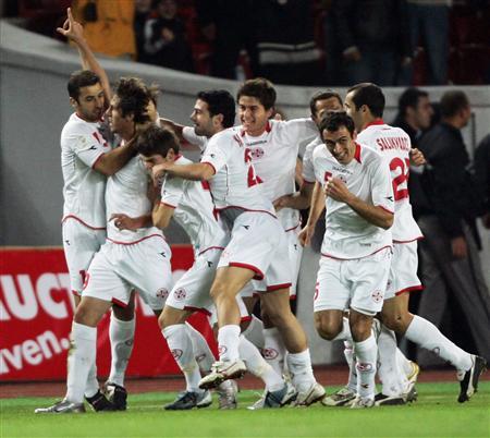 Сборная Грузия по футболу обыграла Словению со счетом 2:1
