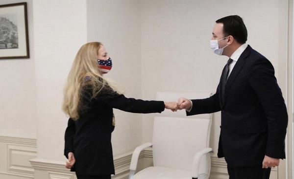 Премьер-министр Грузии Ираклий Гарибашвили встретился с послом Соединенных Штатов Америки в Грузии Келли Дегнан