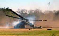 В Грузии упал военный вертолет с иностранной съемочной группой