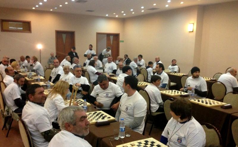 В Тбилиси прошел турнир по шашкам среди людей с ограниченными возможностями