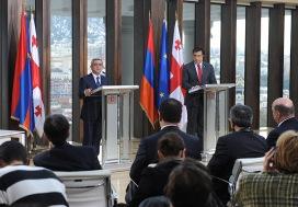 Президенты Армении и Грузии принимают участие в бизнес-форуме в Тбилиси