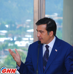 Михаил Саакашвили: Грузинское общество это не лошадь, которую уздой можно направить назад
